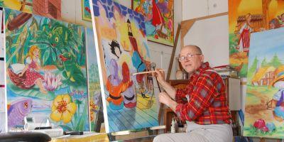 Pictorul care i-a facut peste 1.000 de portrete lui Nicolae Ceasescu: