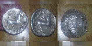 Monede de argint de pe vremea dacilor, descoperite langa Ramnicu Sarat