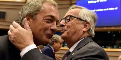 VIDEO Parlamentul European, reuniune speciala dupa Brexit. Juncker l-a certat si imbratisat pe Nigel Farage