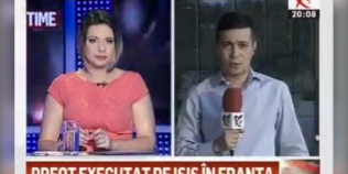 VIDEO Moment amuzant in direct la Realitatea TV: