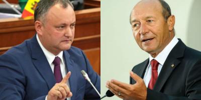 Dodon il lasa pe Basescu sa petreaca Revelionul ca cetatean al Moldovei: