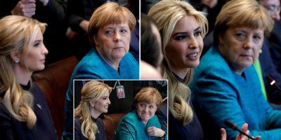 Ivanka Trump, fata in fata cu Angela Merkel la summitul G20 al femeilor de la Berlin