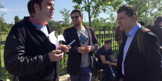 VIDEO Modificarile la Legea Cinematografiei, respinse de Parlament. Cineastii au iesit in strada