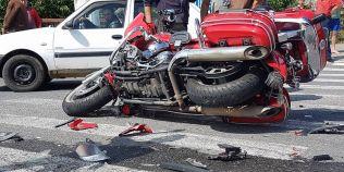 VIDEO Realizatorul radio-TV Cristian Hrubaru s-a rasturnat cu motocicleta pe Transalpina: