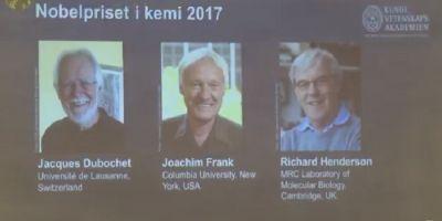 Cercetatorii Jacques Dubochet, Joachim Frank si Richard Henderson au castigat Premiul Nobel pentru Chimie pe 2017