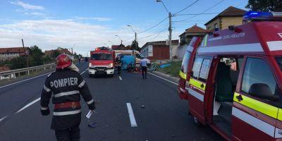 Accident grav in Alba, pe DN1, cu 10 persoane implicate. A fost activat codul rosu de interventie